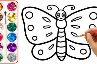 Tranh tô màu con bướm đẹp nhất