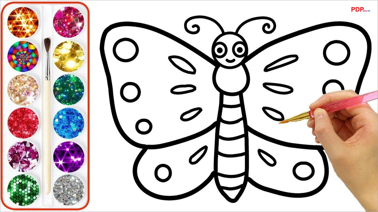 42+ Tranh tô màu con bướm đẹp, dễ thương cho bé yêu tập tô