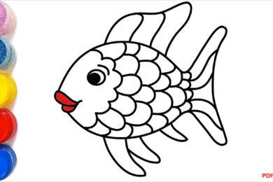 Tranh tô màu con cá đẹp nhất