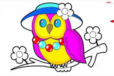 tranh tô màu con chim cho bé