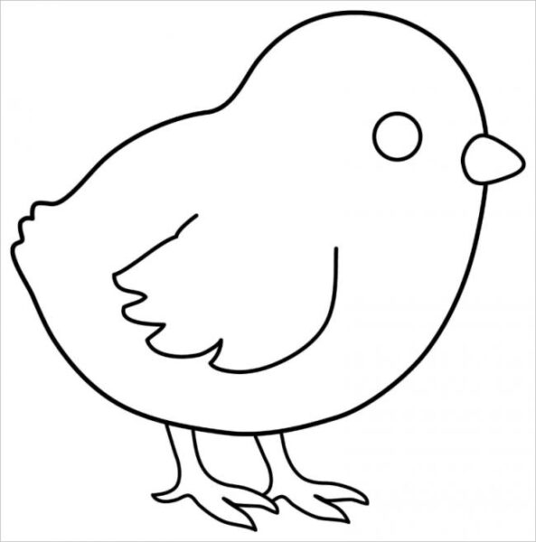 Tranh tô màu con gà cho bé