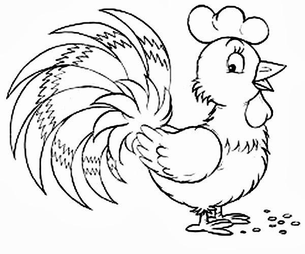 Tranh tô màu con gà đẹp nhất cho bé tập tô (18)