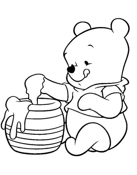 Tranh tô màu con gấu dễ thương cho bé tập tô (21)