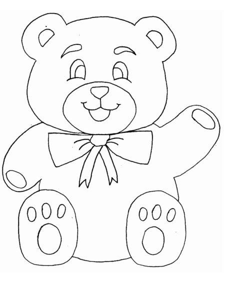 Tranh tô màu con gấu dễ thương cho bé tập tô (23)
