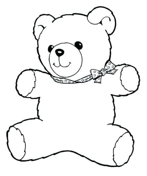 Tranh tô màu con gấu dễ thương cho bé tập tô (24)