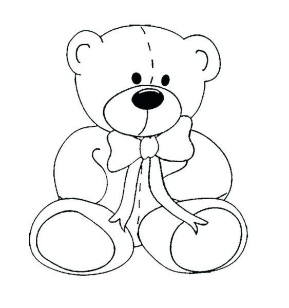 Tranh tô màu con gấu dễ thương cho bé tập tô (25)