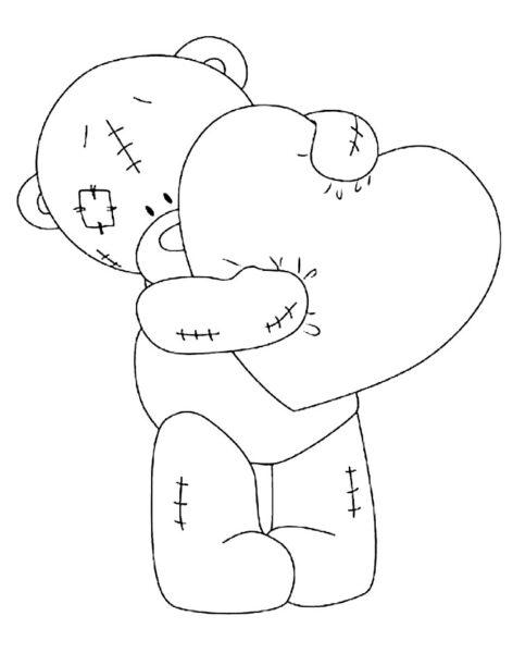 Tranh tô màu con gấu dễ thương cho bé tập tô (26)
