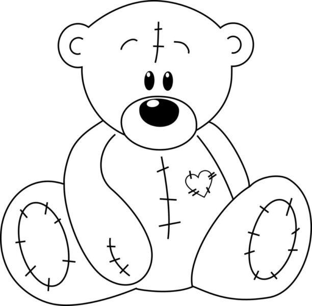 Tranh tô màu con gấu dễ thương cho bé tập tô (33)