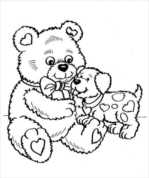 Tranh tô màu con gấu dễ thương cho bé tập tô (34)