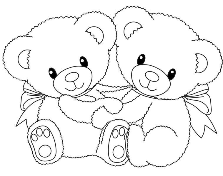 Tranh tô màu con gấu đẹp