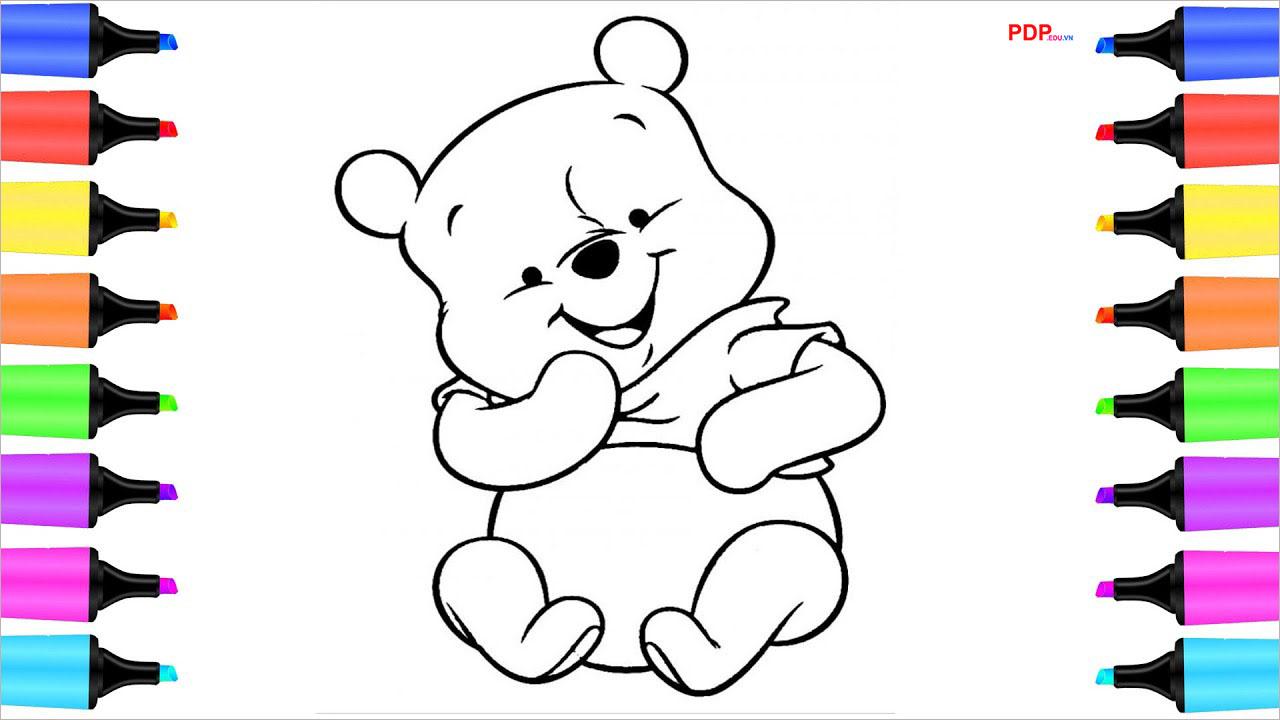 Tranh tô màu con gấu đẹp nhất