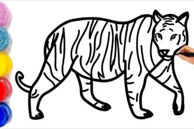 Tranh tô màu con hổ đẹp nhất