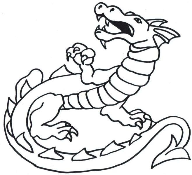 Tranh tô màu con rồng đẹp nhất cho bé tập tô (30)