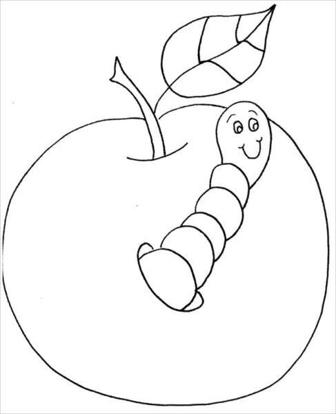 Tranh tô màu con sâu đẹp nhất cho bé tập tô (28)