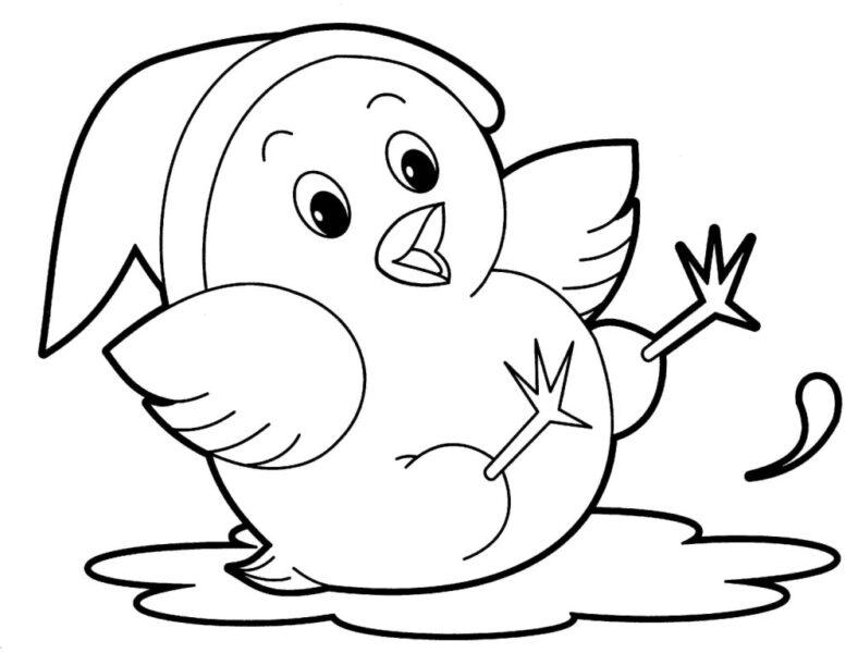 Tranh tô màu con vật cho bé tập tô (2)