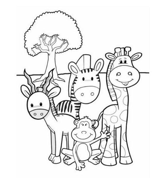 Tranh tô màu con vật cho bé tập tô (27)