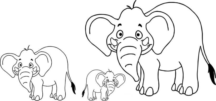 Tranh tô màu con voi đẹp nhất cho bé tập tô (16)