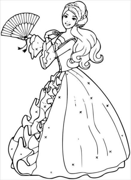 Tranh tô màu công chúa đẹp