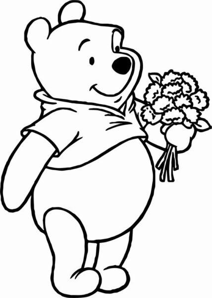 Tranh tô màu gấu Pooh