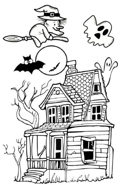 Tranh tô màu halloween hấp dẫn cho bé tập tô (1)
