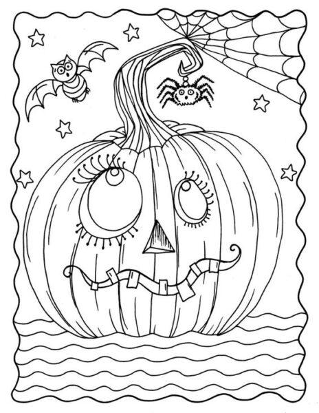 Tranh tô màu halloween hấp dẫn cho bé tập tô (10)