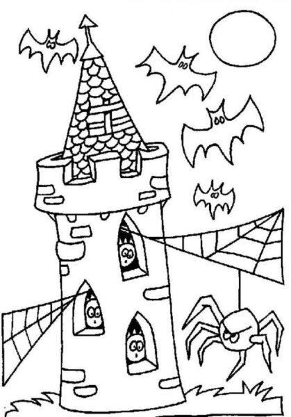 Tranh tô màu halloween hấp dẫn cho bé tập tô (11)