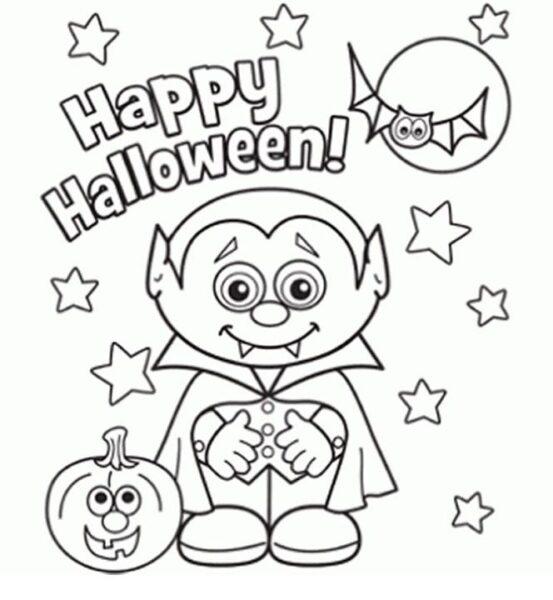 Tranh tô màu halloween hấp dẫn cho bé tập tô (13)