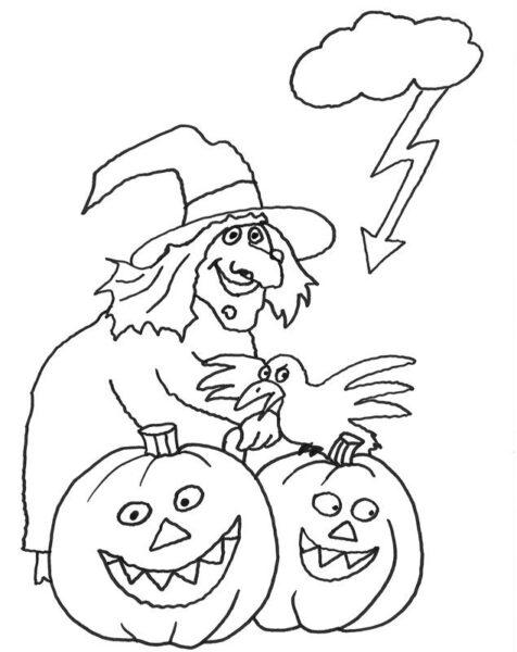 Tranh tô màu halloween hấp dẫn cho bé tập tô (14)