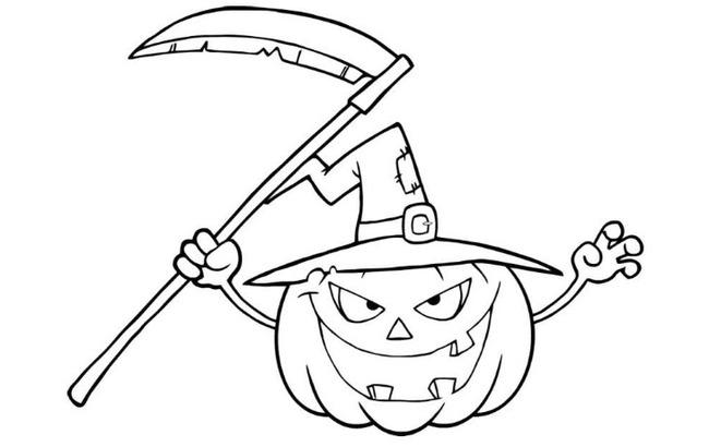 Tranh tô màu halloween hấp dẫn cho bé tập tô (15)