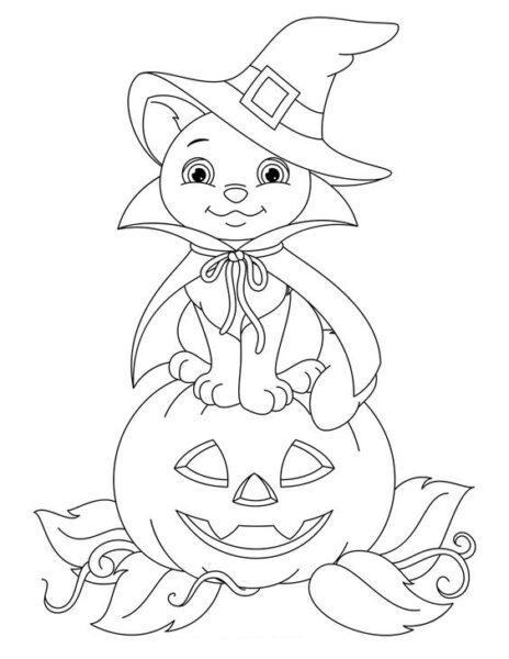 Tranh tô màu halloween hấp dẫn cho bé tập tô (17)