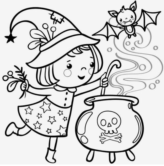 Tranh tô màu halloween hấp dẫn cho bé tập tô (18)