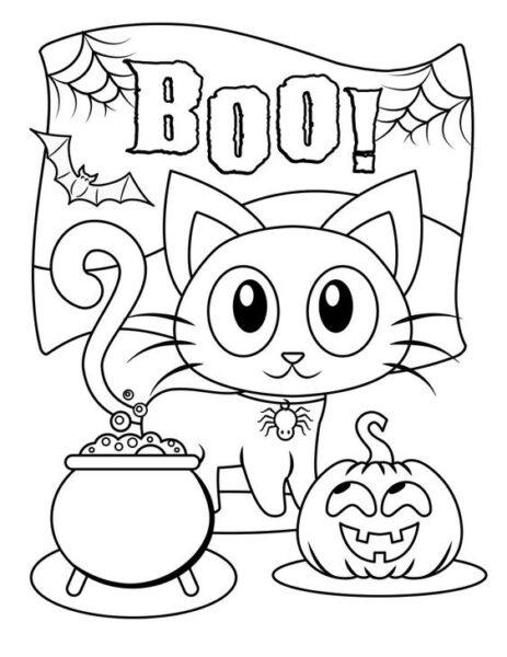 Tranh tô màu halloween hấp dẫn cho bé tập tô (20)