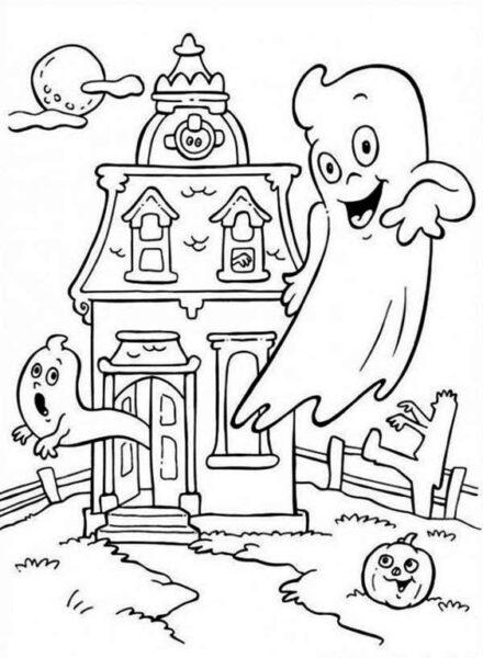 Tranh tô màu halloween hấp dẫn cho bé tập tô (21)