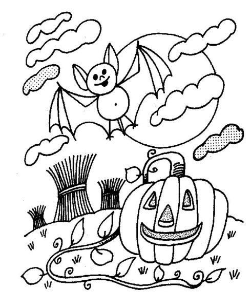 Tranh tô màu halloween hấp dẫn cho bé tập tô (25)