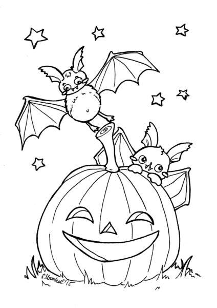 Tranh tô màu halloween hấp dẫn cho bé tập tô (31)