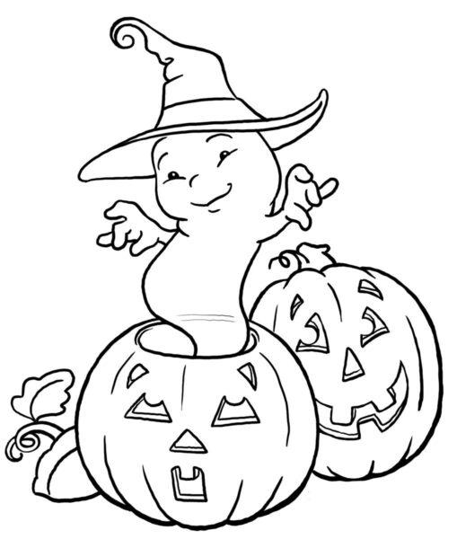 Tranh tô màu halloween hấp dẫn cho bé tập tô (34)