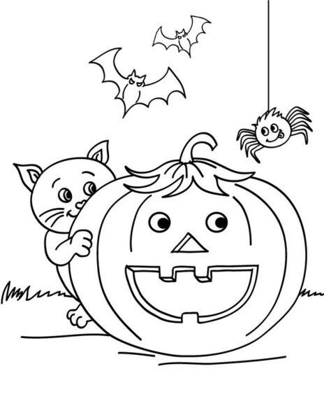 Tranh tô màu halloween hấp dẫn cho bé tập tô (36)