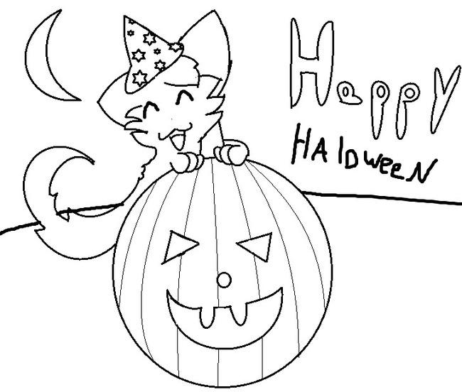 Tranh tô màu halloween hấp dẫn cho bé tập tô (37)