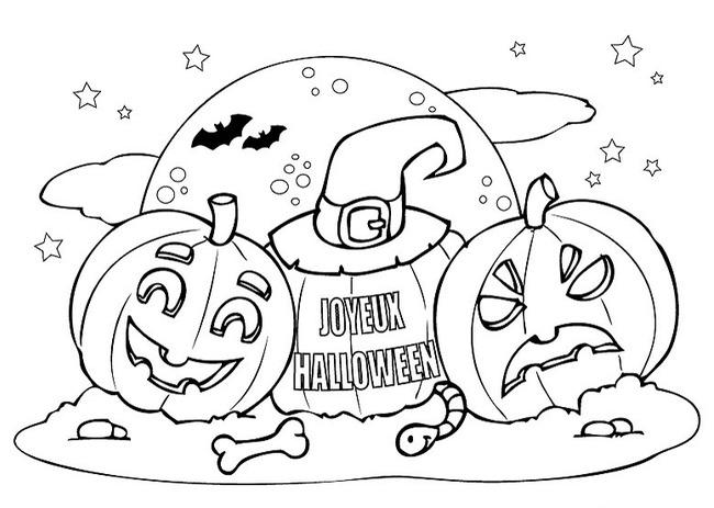 Tranh tô màu halloween hấp dẫn cho bé tập tô (39)