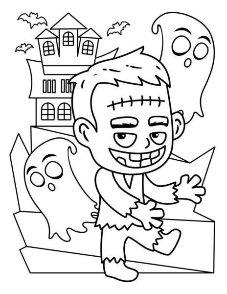 Tranh tô màu halloween hấp dẫn cho bé tập tô (40)