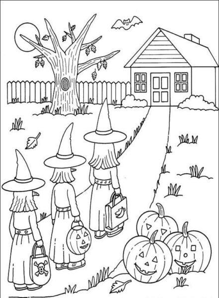 Tranh tô màu halloween hấp dẫn cho bé tập tô (5)