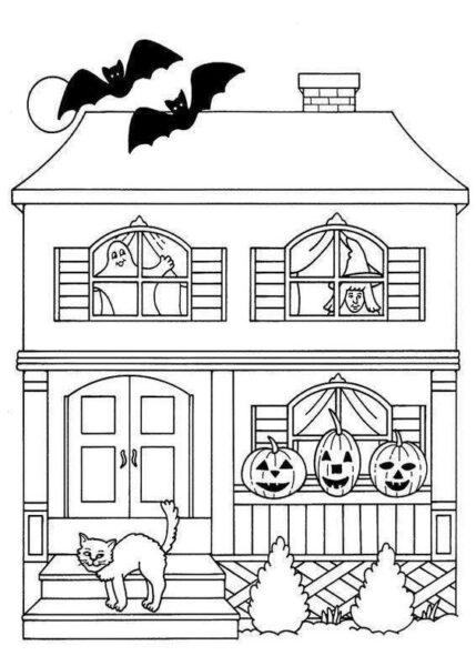 Tranh tô màu halloween hấp dẫn cho bé tập tô (6)