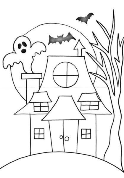 Tranh tô màu halloween hấp dẫn cho bé tập tô (7)