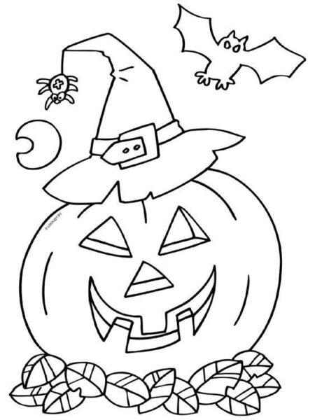 Tranh tô màu halloween hấp dẫn cho bé tập tô (9)