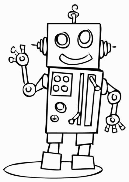 Tranh tô màu hình robot