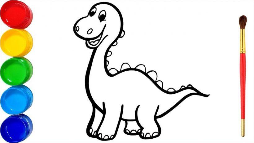 Tranh tô màu khủng long đẹp nhất