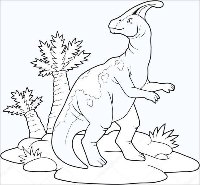 Tranh tô màu khủng long đẹp nhất cho bé tập tô (22)