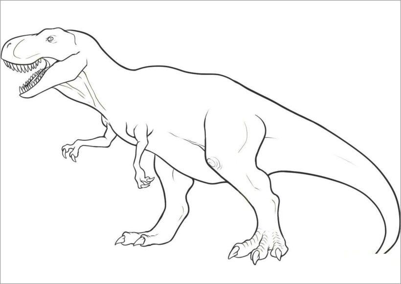 Tranh tô màu khủng long đẹp nhất cho bé tập tô (24)