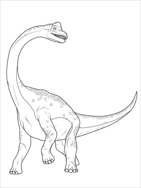 Tranh tô màu khủng long đẹp nhất cho bé tập tô (26)