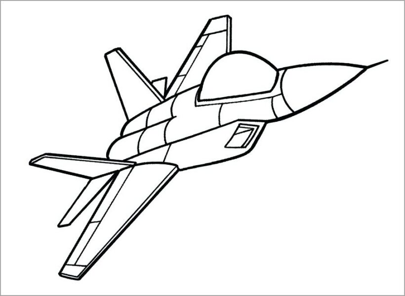 Tranh tô màu máy bay chiến đấu
